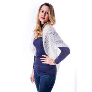 bolero-papillon-kit tricoté en laine mohair et soie mohair des fermes de france