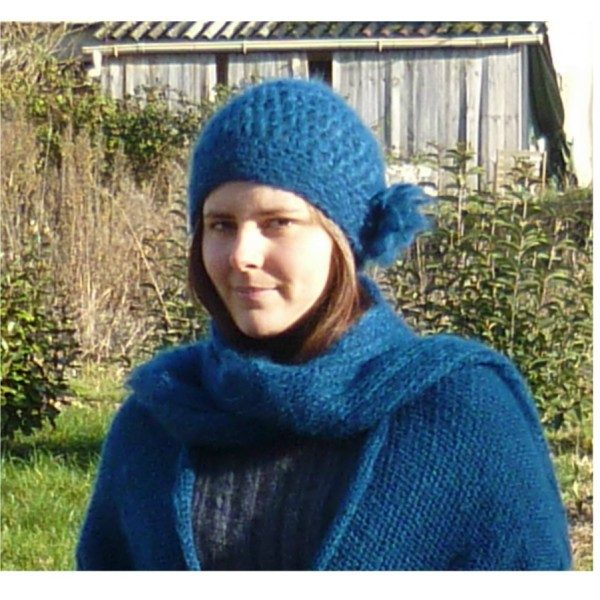 bonnet-crochet mohair des fermes de france