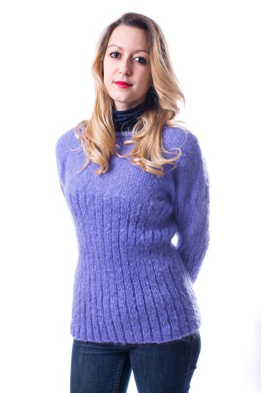pull-julia-kit tricote en pur mohair de chevreau col bateau