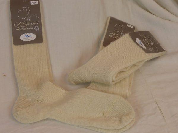 Lots de chaussettes mohair ecru