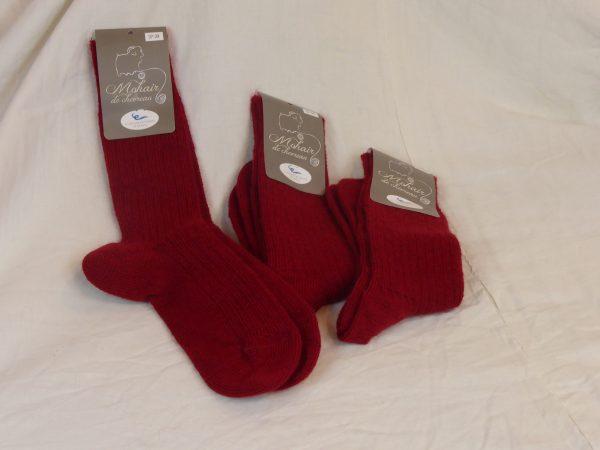 Lots de chaussettes mohair rouge
