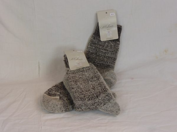 Chaussettes mohair rando taupe