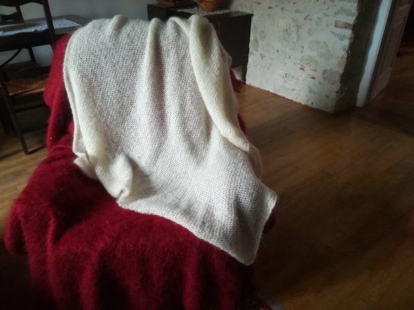 plaid tricote en mohair
